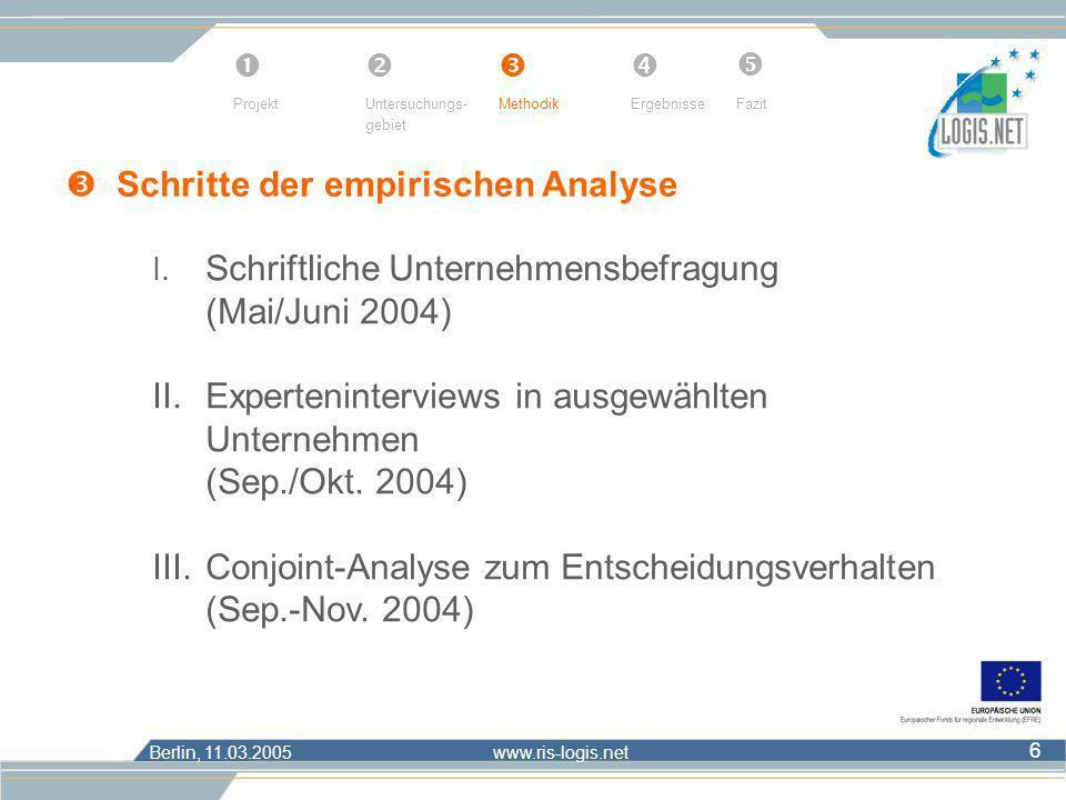  Schritte der empirischen Analyse