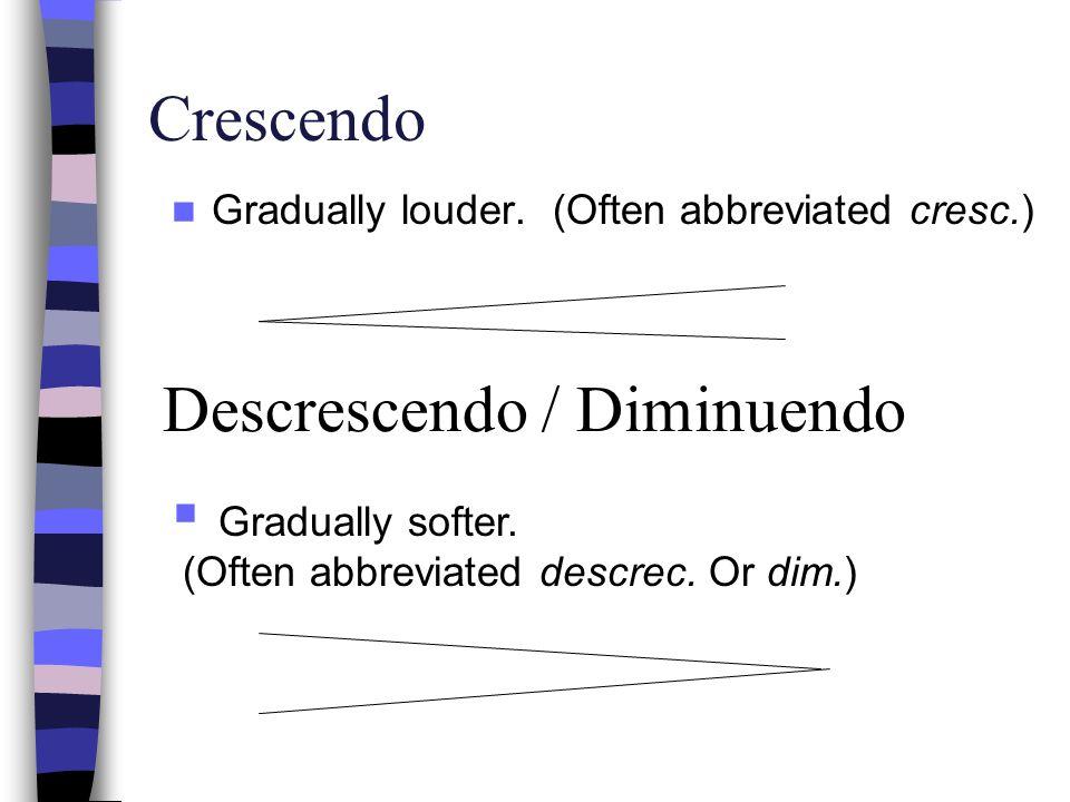 Descrescendo / Diminuendo
