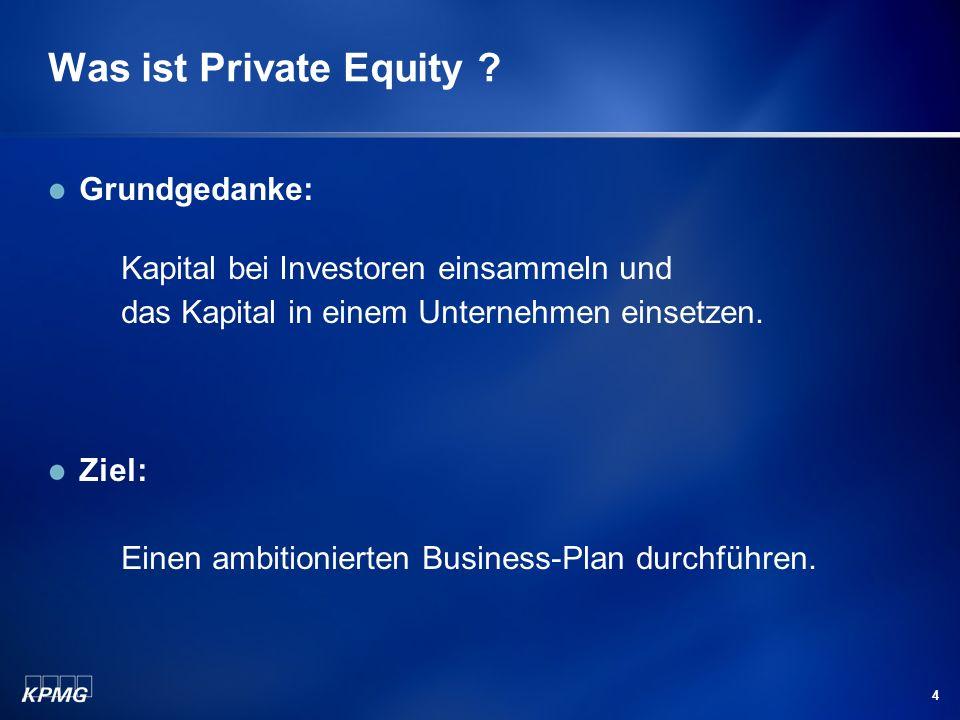 Was ist Private Equity Grundgedanke: