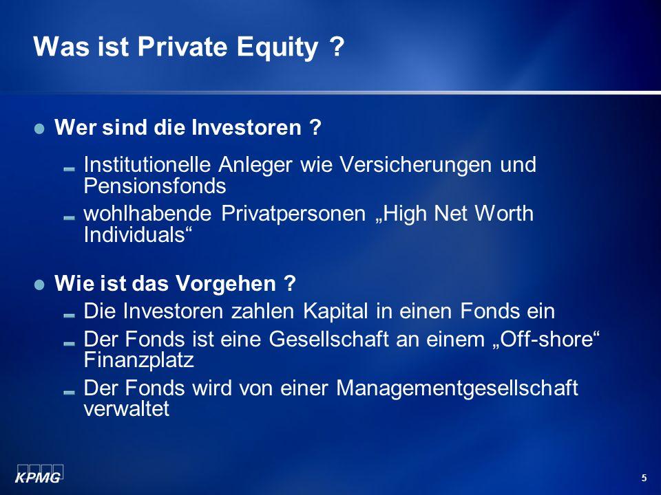 Was ist Private Equity Wer sind die Investoren