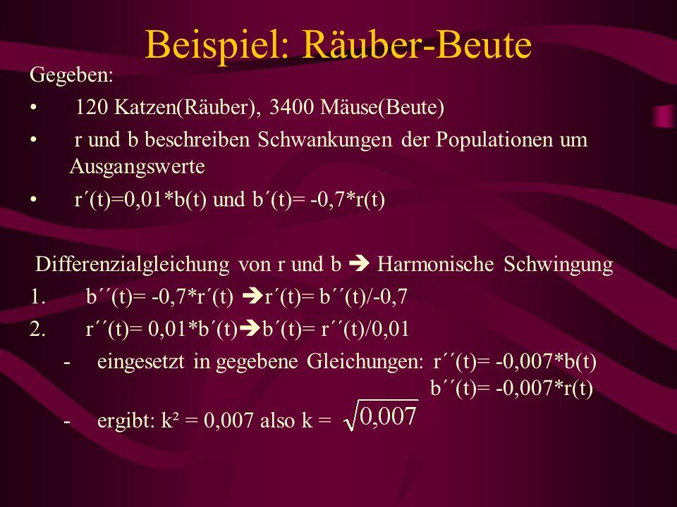 Beispiel: Räuber-Beute