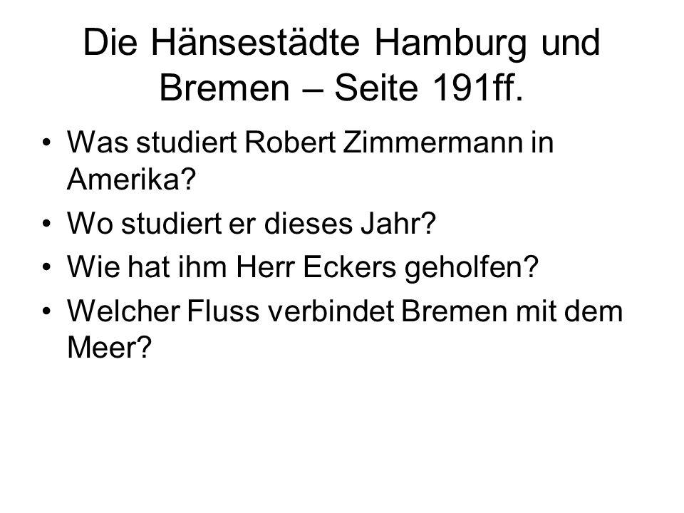 Die Hänsestädte Hamburg und Bremen – Seite 191ff.