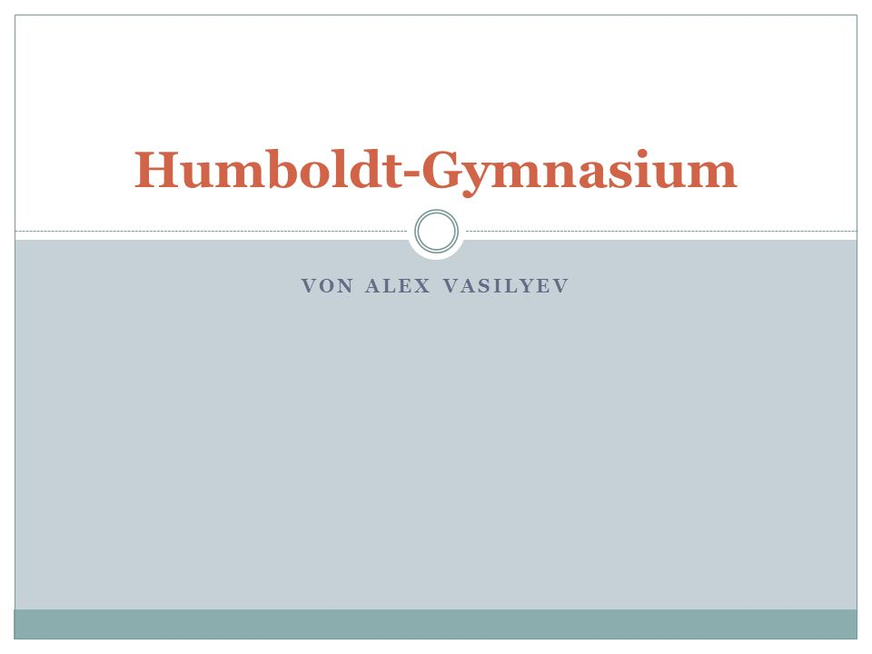 Humboldt-Gymnasium von Alex Vasilyev