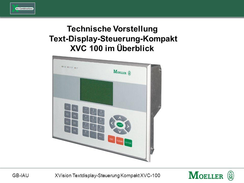 Technische Vorstellung Text-Display-Steuerung-Kompakt XVC 100 im Überblick