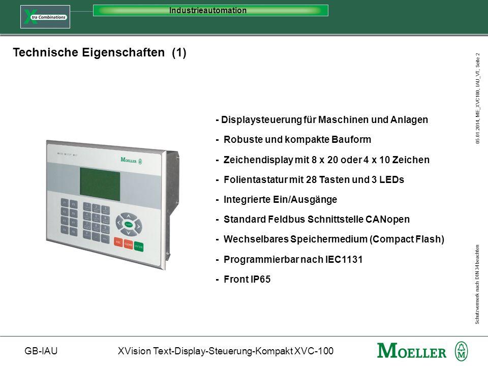 Technische Eigenschaften (1)