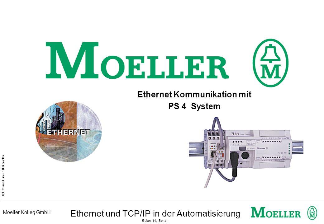 Ethernet Kommunikation mit PS 4 System