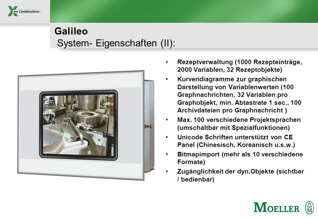 Galileo System- Eigenschaften (II):