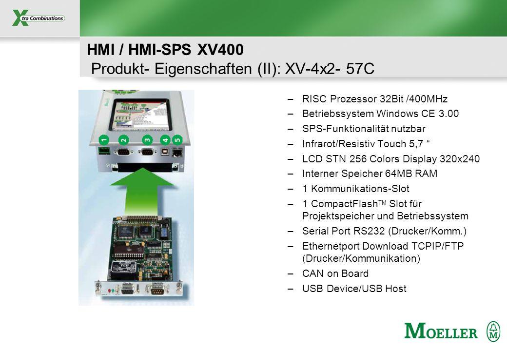 HMI / HMI-SPS XV400 Produkt- Eigenschaften (II): XV-4x2- 57C