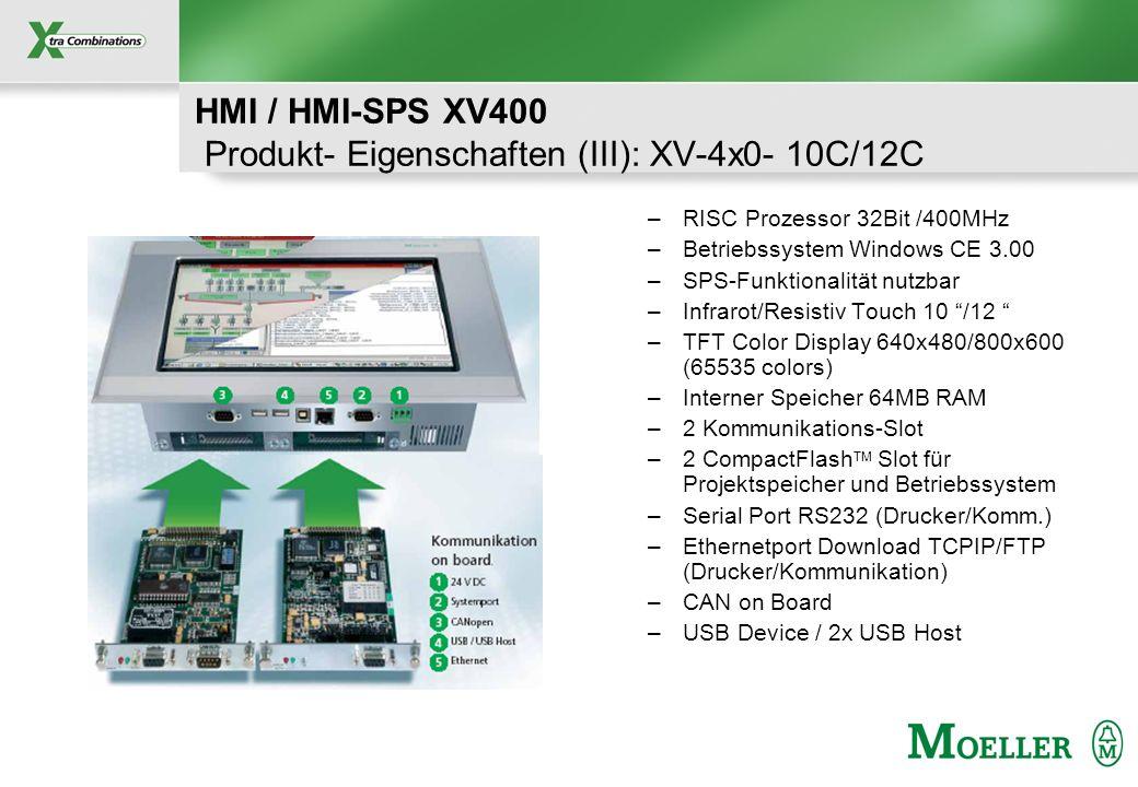 HMI / HMI-SPS XV400 Produkt- Eigenschaften (III): XV-4x0- 10C/12C