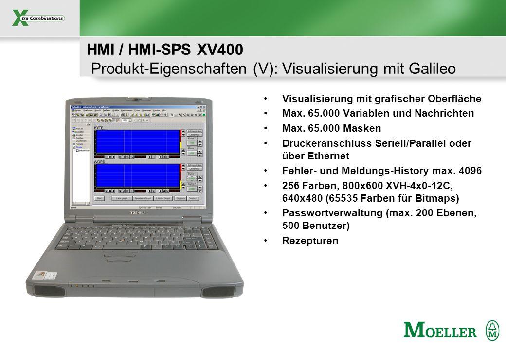HMI / HMI-SPS XV400 Produkt-Eigenschaften (V): Visualisierung mit Galileo