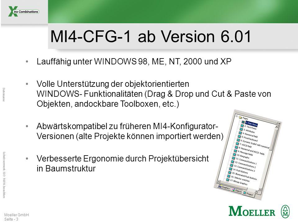 MI4-CFG-1 ab Version 6.01 Lauffähig unter WINDOWS 98, ME, NT, 2000 und XP.