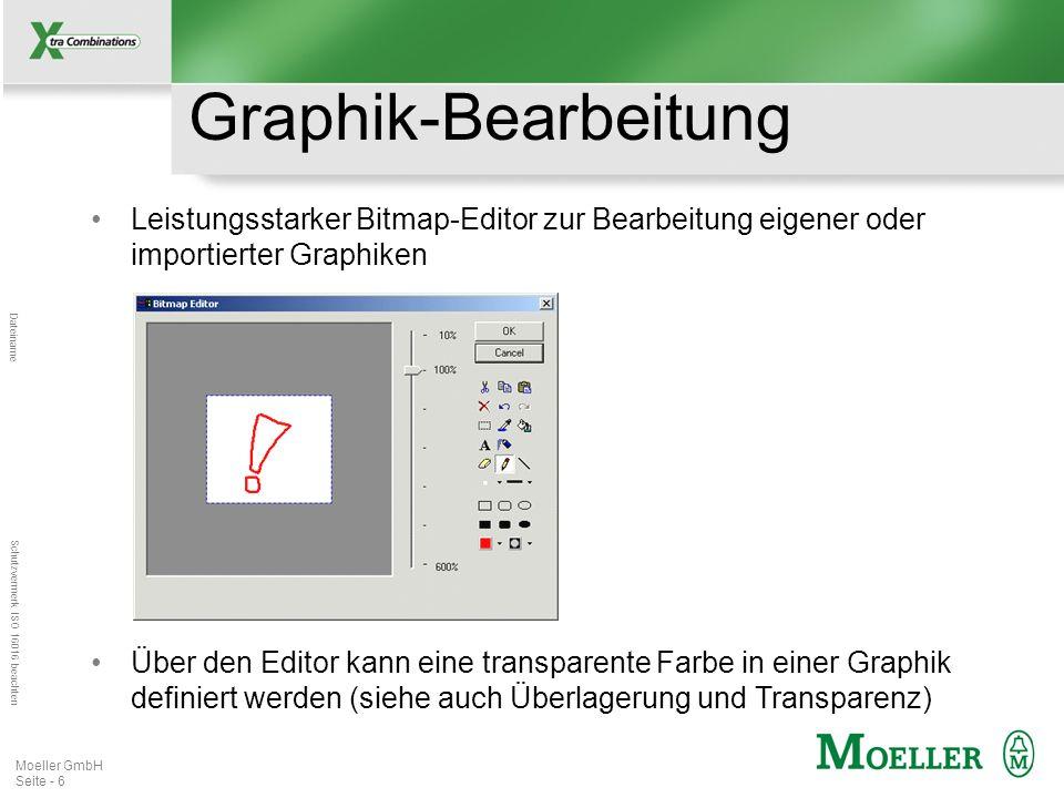 Graphik-BearbeitungLeistungsstarker Bitmap-Editor zur Bearbeitung eigener oder importierter Graphiken.