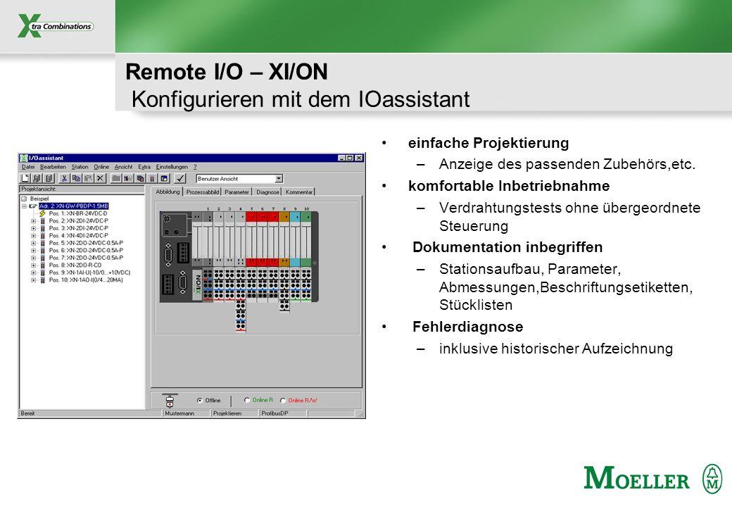 Remote I/O – XI/ON Konfigurieren mit dem IOassistant