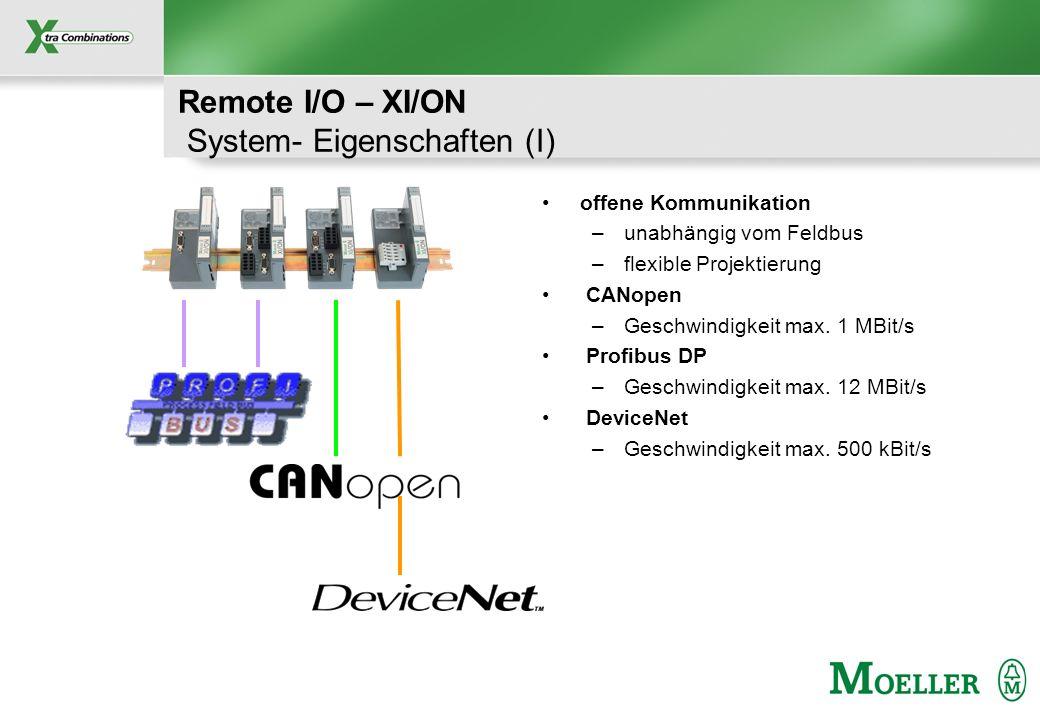 Remote I/O – XI/ON System- Eigenschaften (I)