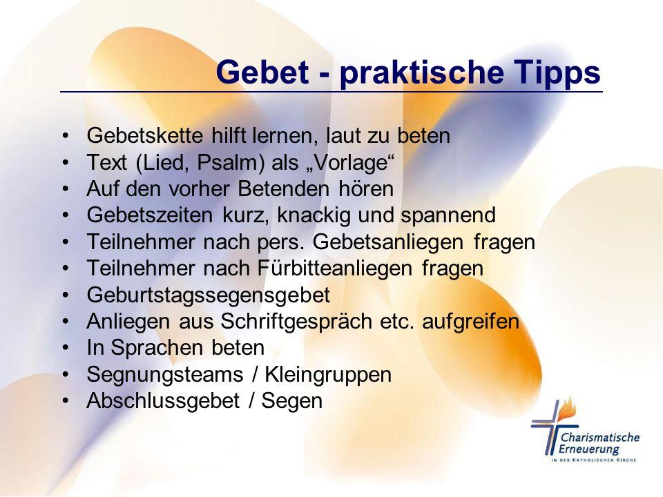 Gebet - praktische Tipps