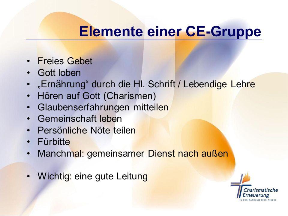 Elemente einer CE-Gruppe