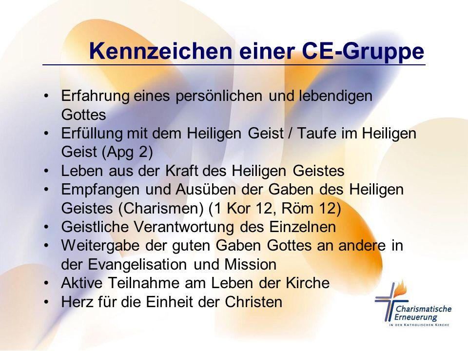 Kennzeichen einer CE-Gruppe