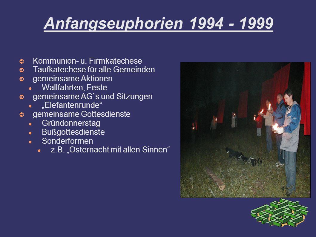 Anfangseuphorien 1994 - 1999 Kommunion- u. Firmkatechese