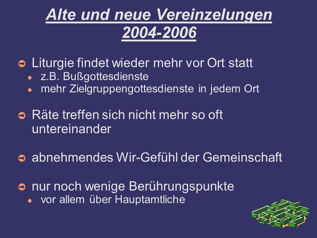 Alte und neue Vereinzelungen 2004-2006