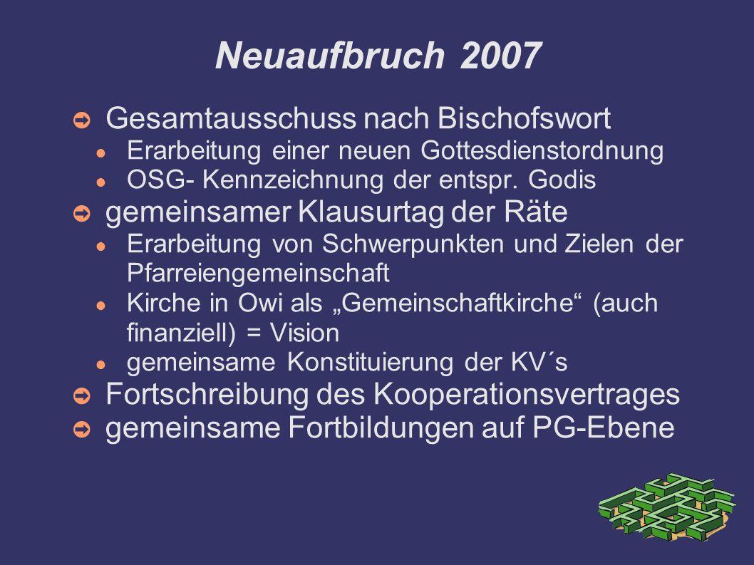 Neuaufbruch 2007 Gesamtausschuss nach Bischofswort