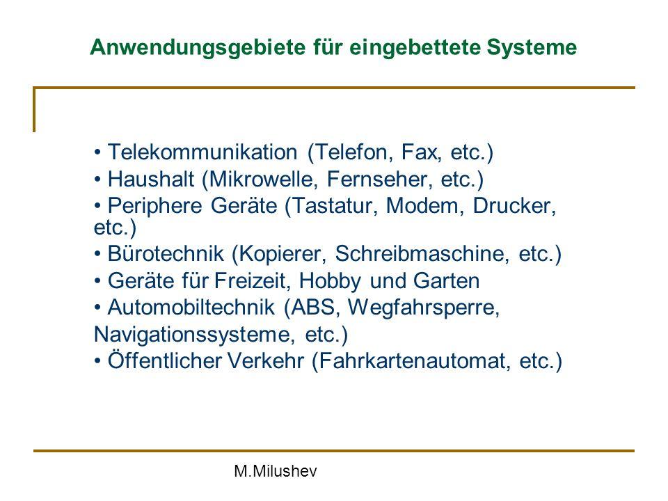 Anwendungsgebiete für eingebettete Systeme