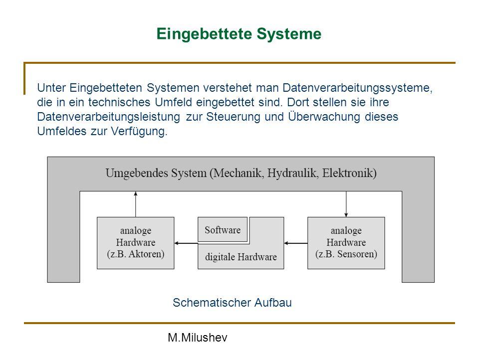 Eingebettete Systeme Unter Eingebetteten Systemen verstehet man Datenverarbeitungssysteme,