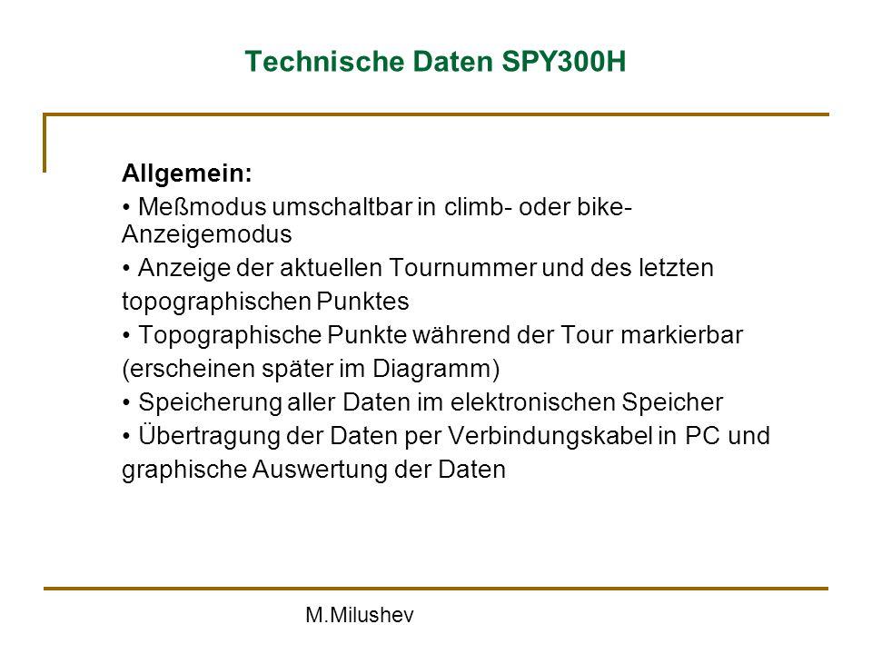 Technische Daten SPY300H Allgemein: