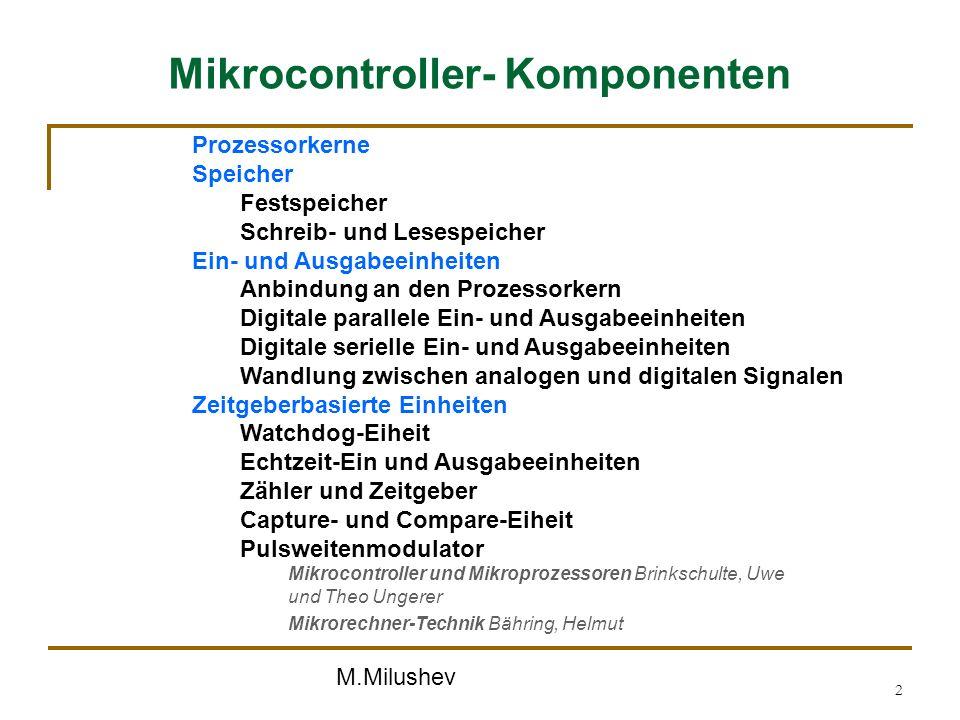 Mikrocontroller- Komponenten