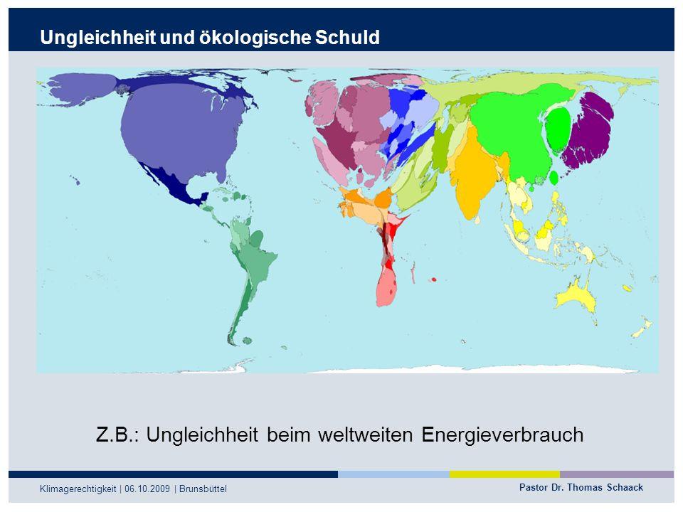 Ungleichheit und ökologische Schuld