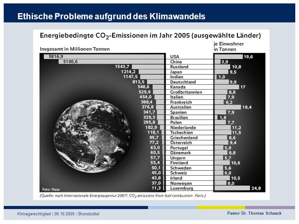 Ethische Probleme aufgrund des Klimawandels