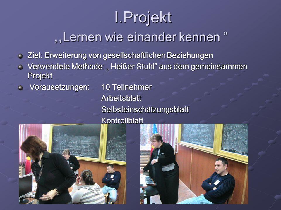 I.Projekt ,,Lernen wie einander kennen
