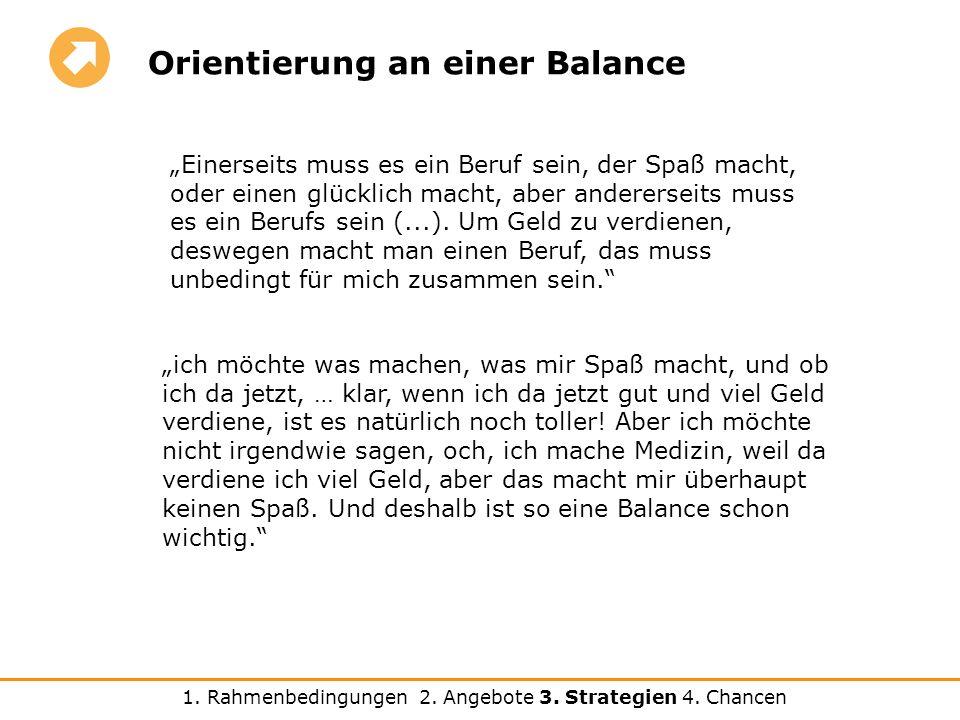 Orientierung an einer Balance