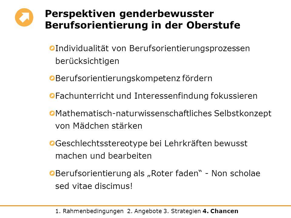 Perspektiven genderbewusster Berufsorientierung in der Oberstufe