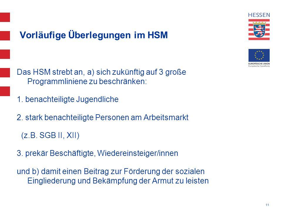Vorläufige Überlegungen im HSM