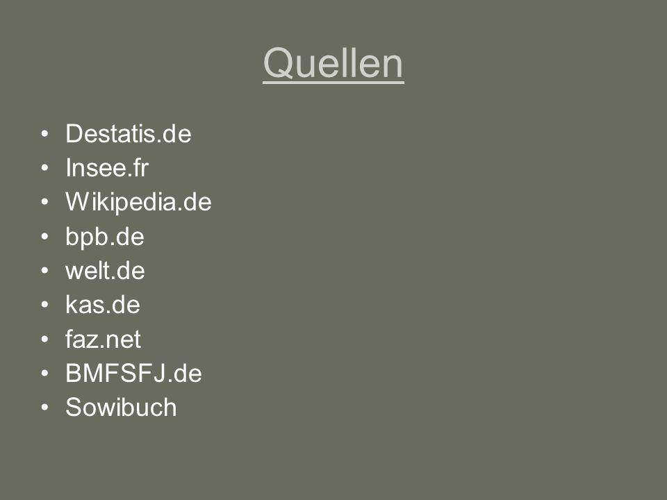 Quellen Destatis.de Insee.fr Wikipedia.de bpb.de welt.de kas.de