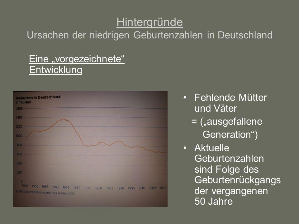 Hintergründe Ursachen der niedrigen Geburtenzahlen in Deutschland