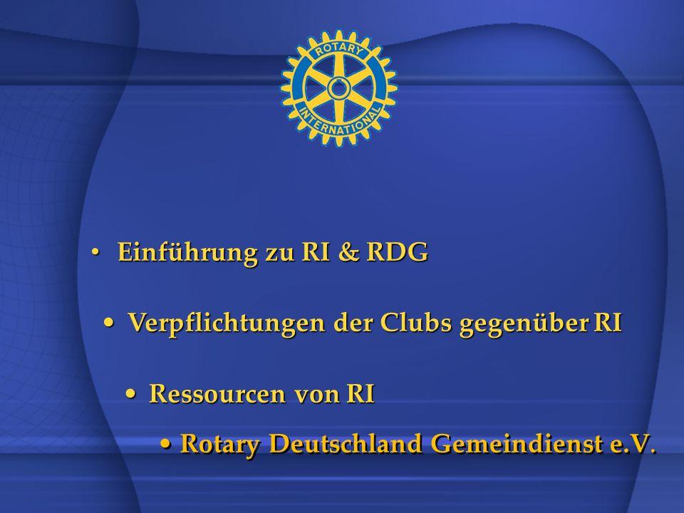 Verpflichtungen der Clubs gegenüber RI