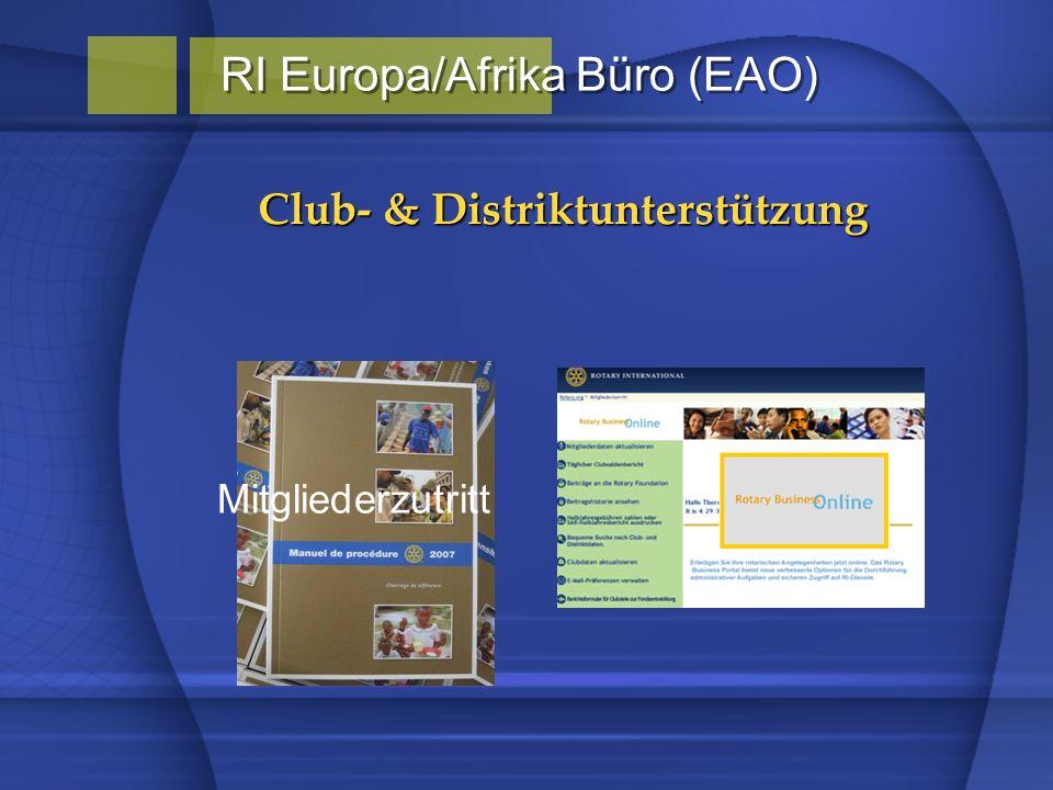 Club- & Distriktunterstützung