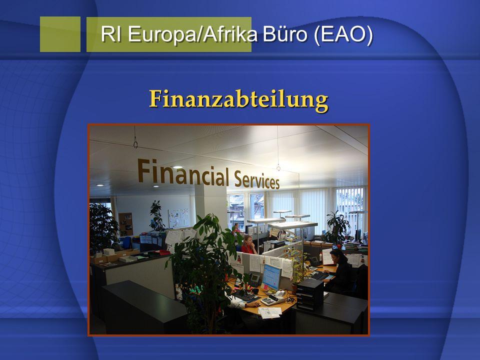 Finanzabteilung RI Europa/Afrika Büro (EAO)