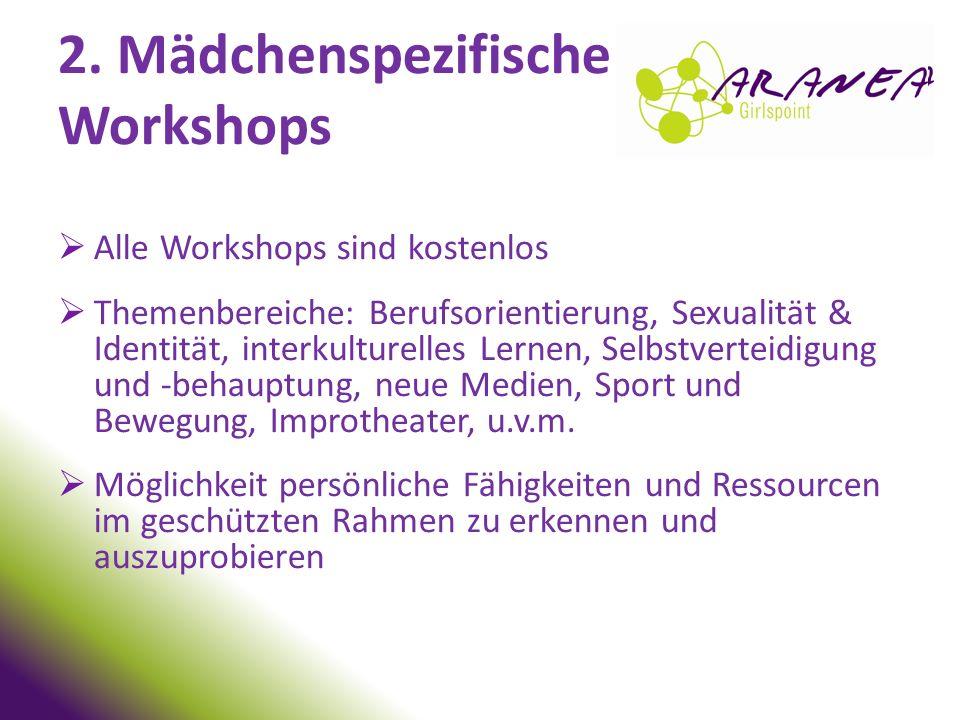 2. Mädchenspezifische Workshops