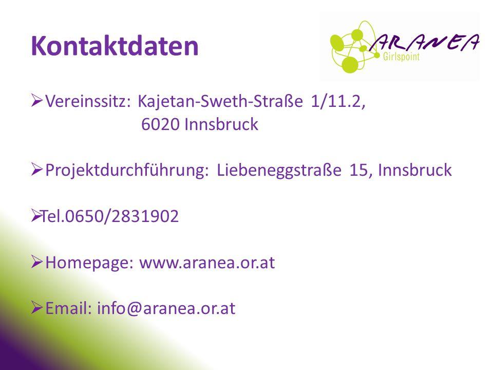 Kontaktdaten Vereinssitz: Kajetan-Sweth-Straße 1/11.2, 6020 Innsbruck