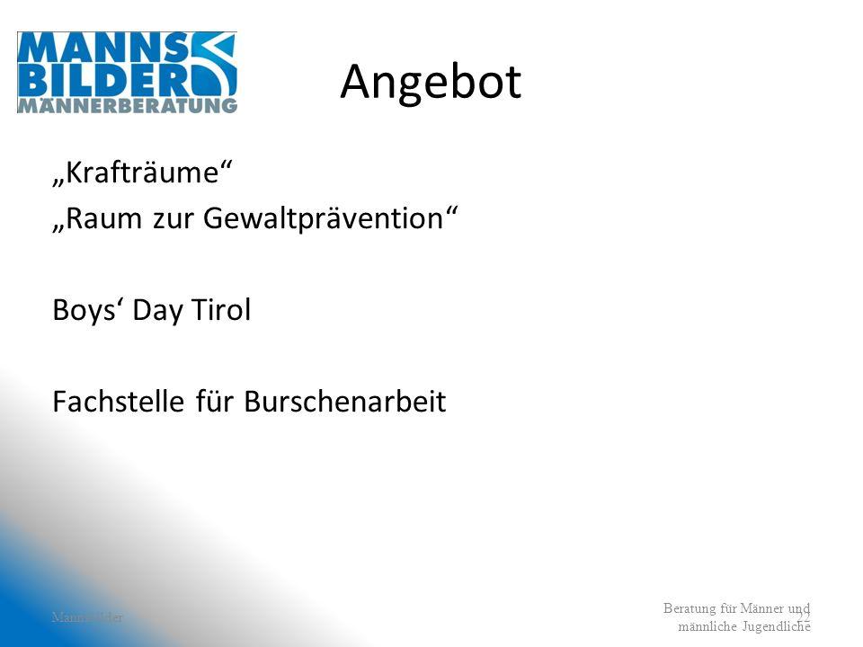 "Angebot ""Krafträume ""Raum zur Gewaltprävention Boys' Day Tirol"