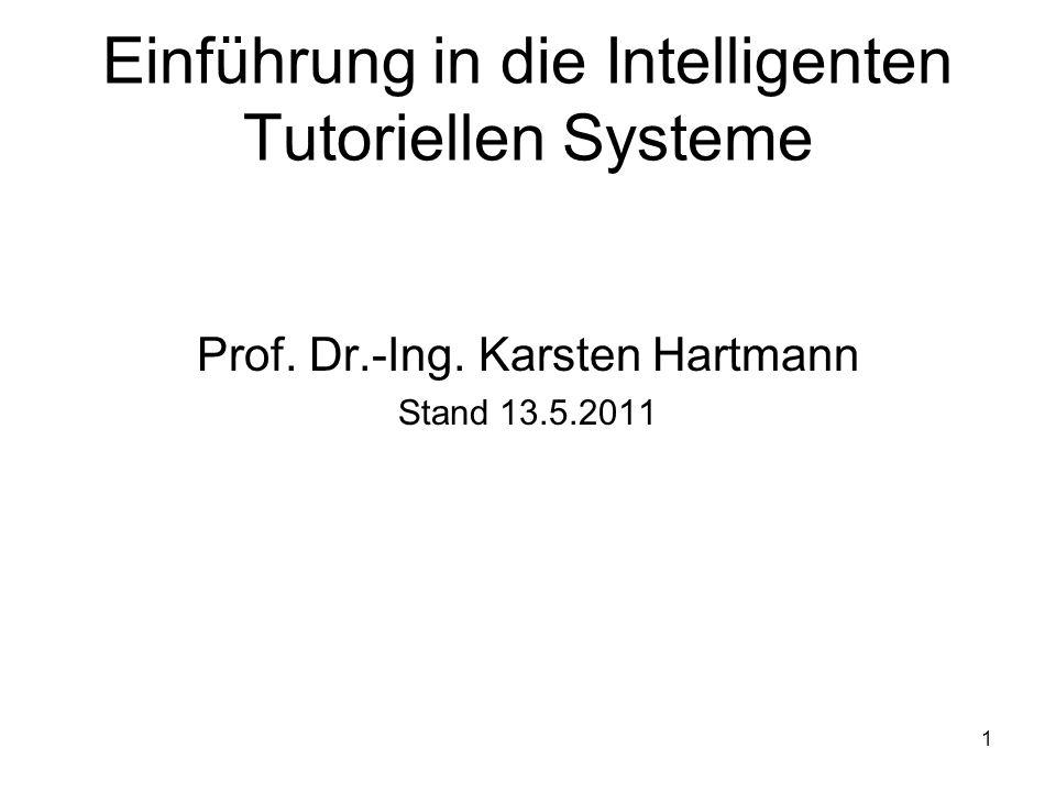 Einführung in die Intelligenten Tutoriellen Systeme
