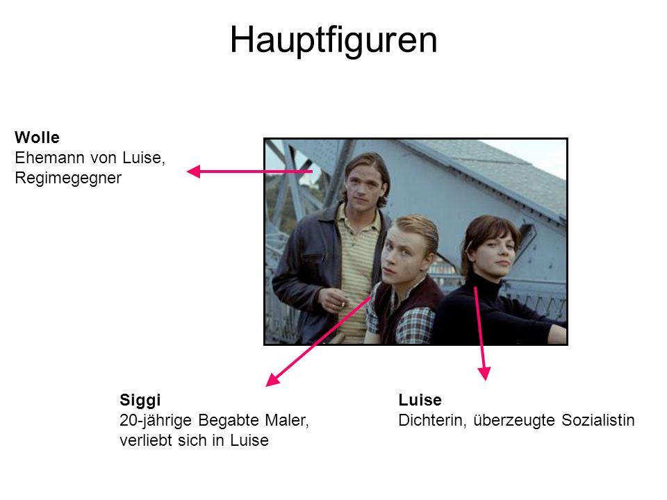 Hauptfiguren Wolle Ehemann von Luise, Regimegegner Siggi
