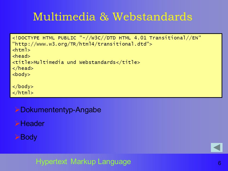 Multimedia & Webstandards