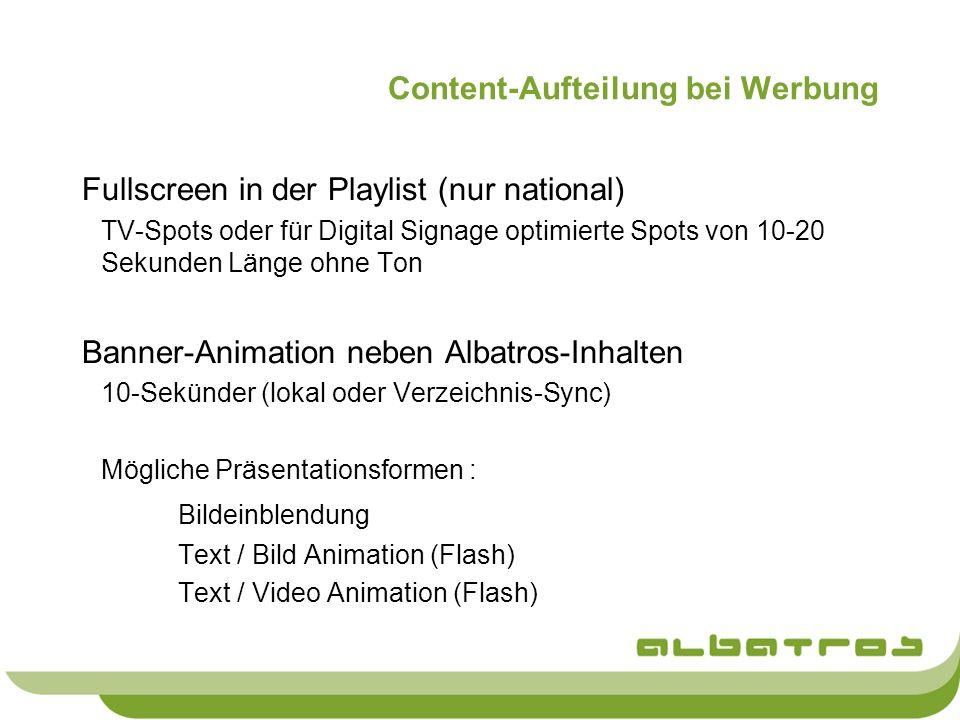 Content-Aufteilung bei Werbung