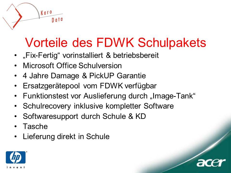 Vorteile des FDWK Schulpakets