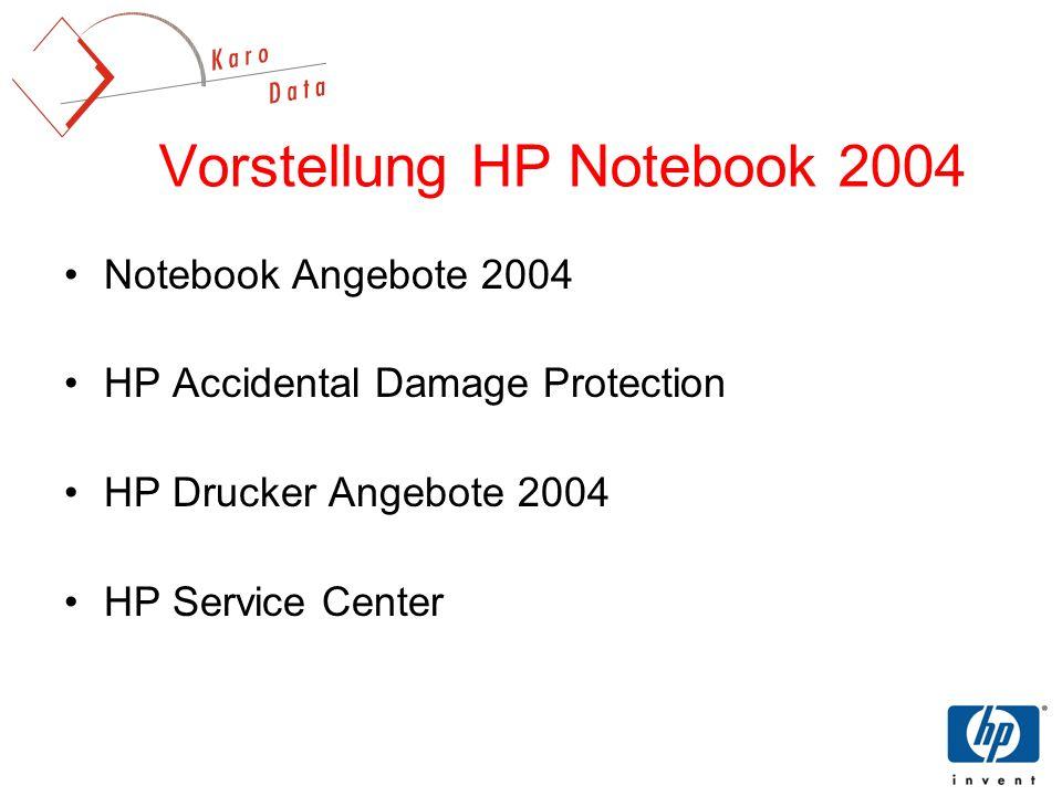 Vorstellung HP Notebook 2004
