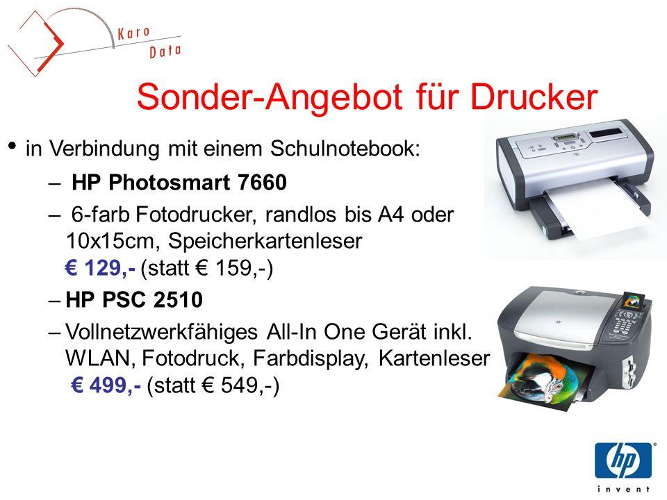 Sonder-Angebot für Drucker