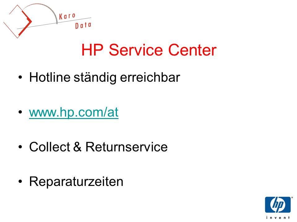 HP Service Center Hotline ständig erreichbar www.hp.com/at